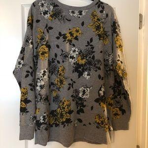 Torrid floral sweatshirt sz 2